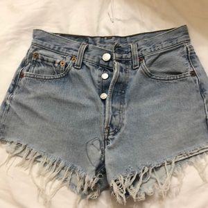 Levi's vintage 501 distressed denim shorts 24